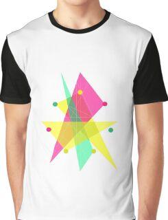 Abstract Heptagon Graphic T-Shirt