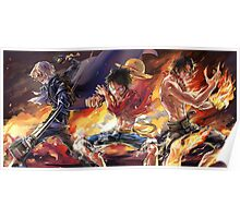 Sabo & Luffy & Ace Poster