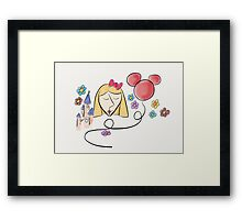 Disney fan girl ! Framed Print
