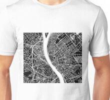 Budapest Map - Black Unisex T-Shirt
