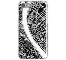 Budapest Map - Black iPhone Case/Skin