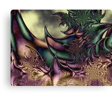 Flora Fantasia Abstract Fractal Canvas Print