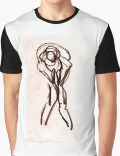 bended girl sketch Graphic T-Shirt