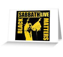 Black Sabbath parody  Greeting Card