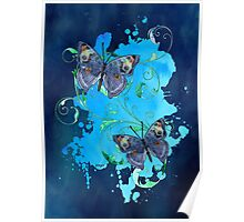 Watercolour Butterfly 09 Poster