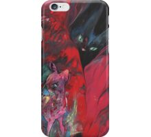 The Young Deer And The Black Cat iPhone Case/Skin