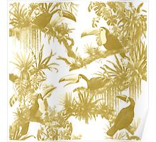 Toucans and Bromeliads - Spicy Mustard Poster