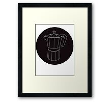 Moka Black Circle Framed Print