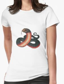 Red-bellied Black Snake Womens Fitted T-Shirt