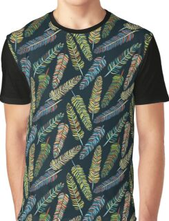Hand-drown feathers pattern Graphic T-Shirt
