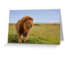 Geometric Lion Landscape Greeting Card