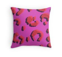 Stylised Leopard  Throw Pillow