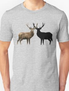 Deer and Silhouette Unisex T-Shirt