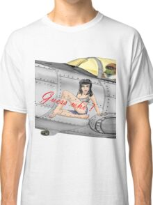 Fighter Nose Art - Guess who ! Classic T-Shirt