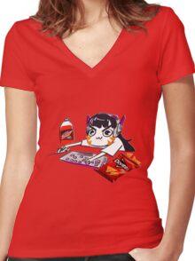 Gremlin Dva Women's Fitted V-Neck T-Shirt