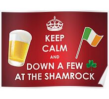 Keepin' Calm at the Shamrock . . . The Luck of the Irish Poster