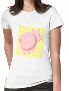 Pig Without the Pun Womens Fitted T-Shirt