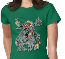 2 fish and 3 crows Womens Fitted T-Shirt