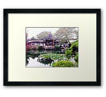 Chinese Garden, Photo / Digital Painting  Framed Print