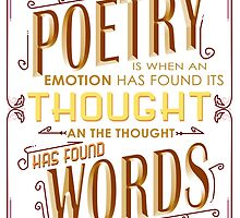 Poetry I When Thought Finds Its Words by papabuju