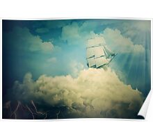 Air floating Poster