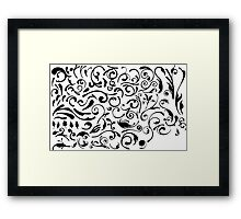 drawing tattoo Framed Print