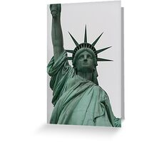 Statue of Liberty. Greeting Card