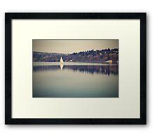 Vintage lake Framed Print