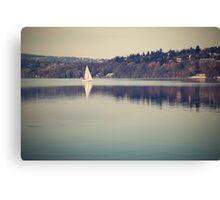 Vintage lake Canvas Print