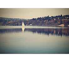 Vintage lake Photographic Print
