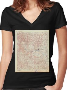 USGS TOPO Map Arkansas AR Batesville 260435 1891 125000 Women's Fitted V-Neck T-Shirt