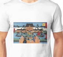 Inside Kameido Tenmangu shrine - Hiroshige Ando - 1853 Unisex T-Shirt