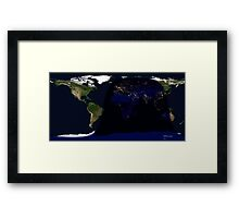 Earth day and night cycle  Framed Print