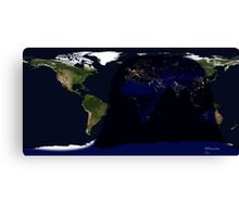 Earth day and night cycle  Canvas Print