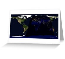Earth day and night cycle  Greeting Card