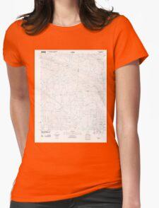 USGS TOPO Map Arkansas AR Congo 20110714 TM Womens Fitted T-Shirt