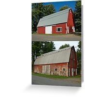 Barn Makeover Before & After Greeting Card
