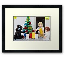 Skywalker Family Christmas Framed Print