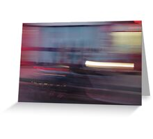 Harley lights trail Greeting Card