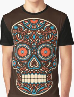 Colorful Sugar Skull Graphic T-Shirt