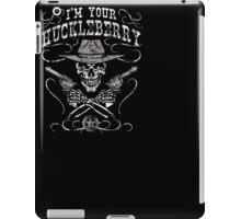 I'm Your Huckleberry Skull Gun Tee Shirt iPad Case/Skin