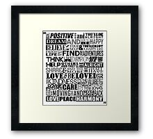 Random Funky Words Framed Print