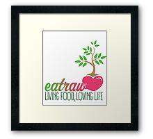 Raw Eating Framed Print