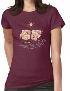 CUPS ON THE BEACH Womens Fitted T-Shirt
