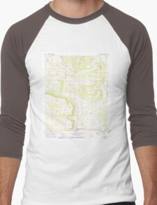 USGS TOPO Map Arkansas AR Moreland 259124 1962 24000 Men's Baseball ¾ T-Shirt