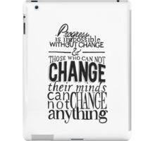 """""""Progress"""" Typographic Quote iPad Case/Skin"""