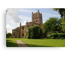 Twekesbury Abbey exterior Canvas Print