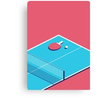 Table Tennis Isometric (Red Cyan) Canvas Print