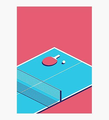 Table Tennis Isometric (Red Cyan) Photographic Print