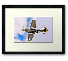 "P-51D Mustang 45-15118 G-MSTG ""Janie"" banking Framed Print"